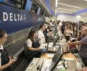 Delta airlines' staff help users after the shooting that left 5 dead at Fort Lauderdale's airport, in Florida, United States, 07 January 2017. Investigators maintain that the gunman, a 25-year-old former soldier from Alaska, acted alone at the terminal 2 during the shooting. EFE/Giorgio Viera